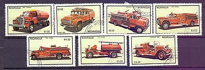 Nicaragua  1983  Fire Engines, CTO.