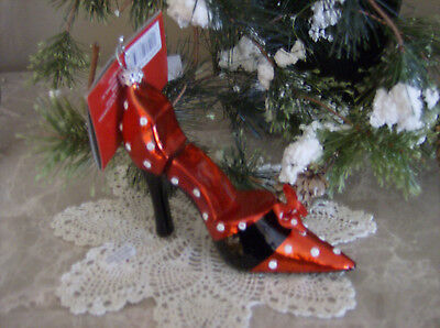 High Heel Christmas Ornament-New With Tag!