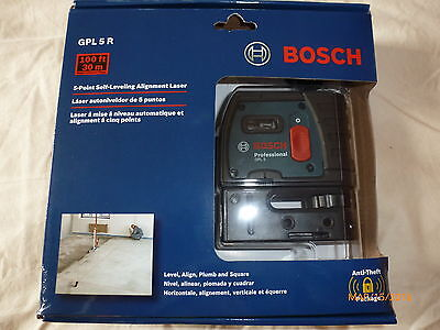 Bosch GPL 5 R - 5 Point Self Leveling Alignment Laser