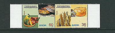 MACEDONIA 2005 EUROPA GASTRONOMY complete set of 2 VF MNH