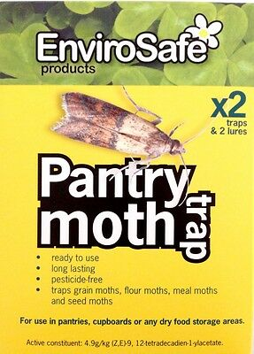 Envirosafe Pantry Moth 2 Traps & 2 Lures Lasts 3 Months Natural Pesticide Free