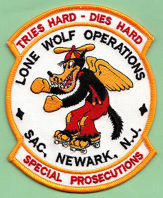 U16 * Old Lone Wolf Nj Tf Uscs Dhs Ins Federal Agency Ice Fbi Swat Police Patch