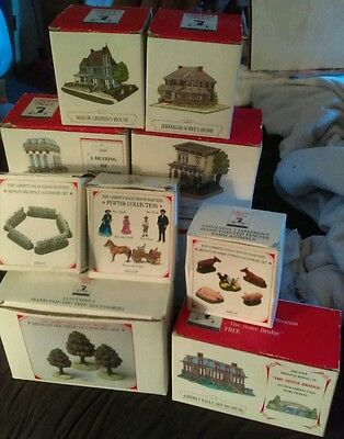 Lot of Liberty Falls Americana Colllection Miniatures,Houses,Church, MORE