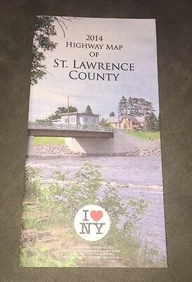 2014 Highway Map Of St. Lawrence County New York