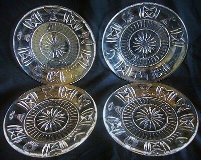 4 Waterford Crystal Glass Millennium 8 inch Luncheon Plates.