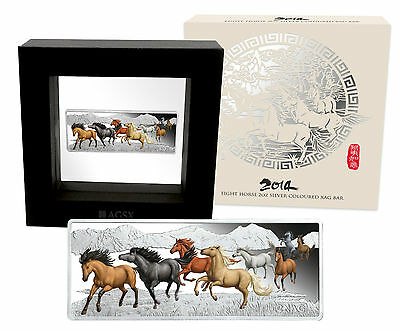 2014 Eight Horse 2oz Silver 2 XAG Bar CERTIFICATE NUMBERED: 76
