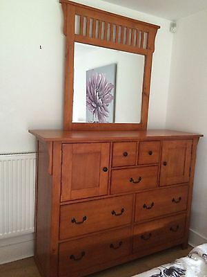 Bedroom Furniture Set - large chest of draws and two bedside cabinets