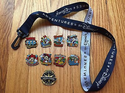 RARE Adventures by Disney DANUBE RIVER CRUISE 2016 New Tour exclusive 9 Pin Set
