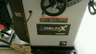 "Delta 10"" Unisaw Table Saw 3HP Single Phase 50"" Unifence"