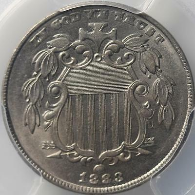 1883 Shield Nickel, Pcgs Ms62, Clean And Sharp, Boldly Struck, Nice Type Coin!