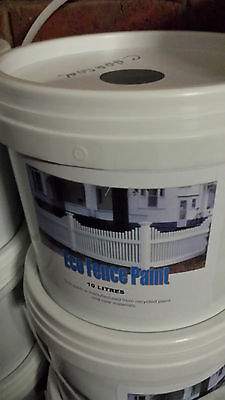 5x10 Litres Cans  ECO Brand Fence Paint Color SIMILAR TO THE NEW BLACK