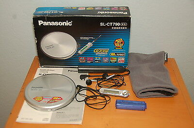 Panasonic SL-CT790 CD Player Boxed Incl'd AA Battery Converter Headphones Pouch