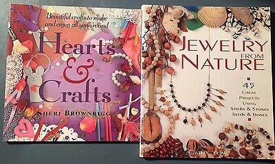 2 Craft Books: Hearts & Crafts, Jewelry from Nature