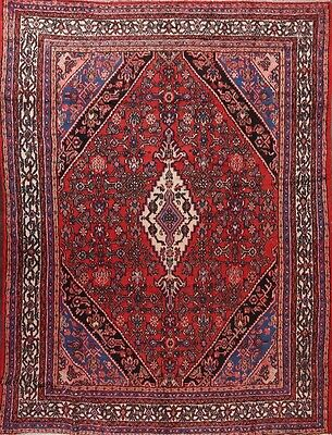 "Semi-Antique Hand Knotted 8x11 Hamedan Persian Oriental Area Rug 11' 2"" x 8' 4"""