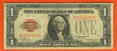 $1 1928 Red Seal FUNNYBACK UNITED STATES note