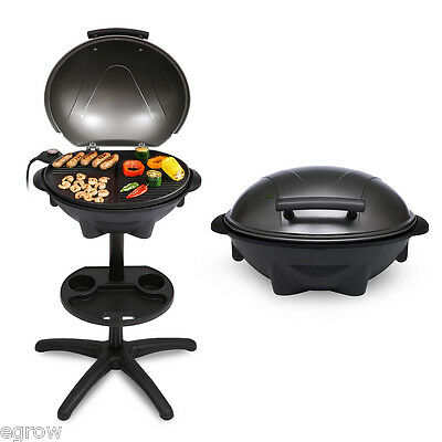 Portable Electric Barbecue BBQ Grill Oven Griddle Indoor Outdoor Camping 1600W