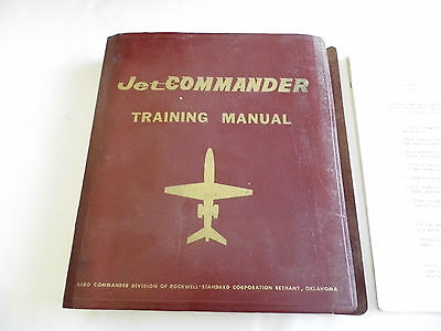 Jet Commander Training Manual Aero Commander Division of Rockwell 1965