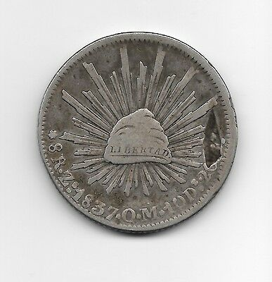 1837 8 Reales Zacatecas Mint - First Republic!