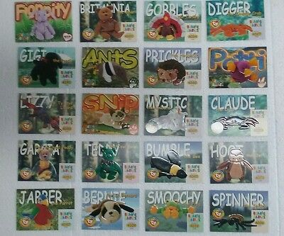 20 Beanie Babies Trading Cards