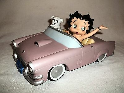 Betty Boop in Car Figurine San Francisco Music Box plays Side by Side 1997
