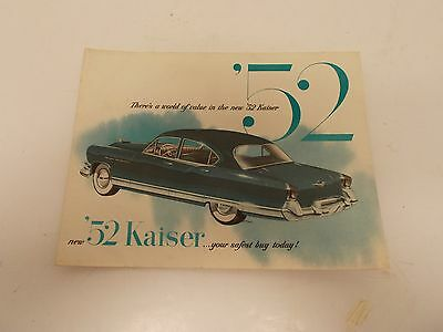 Vintage 1952 Kaiser Brochure/Catalog in Color