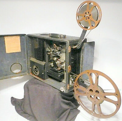 """16mm WWII * """"PROP"""" PROJECTOR non-working for MOVIE ROOMS, display, PLAYS,1940's"""