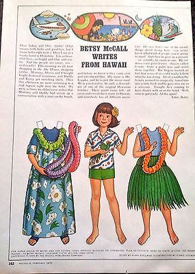 Betsy McCall Mag. Paper Doll, Betsy McCall Writes from Hawaii, Feb. 1978