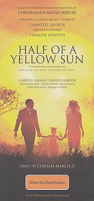 Promotional Movie Flyer - HALF OF A YELLOW SUN (2014) (Chiwetel Ejiofor)