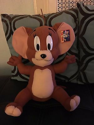 """Tom & Jerry Jerry Mouse Large Stuffed Plush Doll NEW NWT 12"""" Warner Brothers"""
