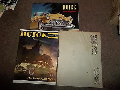 February 1951 Buick Magazine + Super Special Roadmaster Brochure  Mint Cond