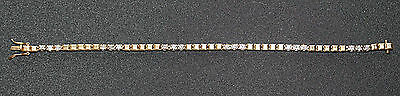 Genuine Real 9 Ct Solid Yellow Gold Bracelet With Natural Diamonds No Scrap
