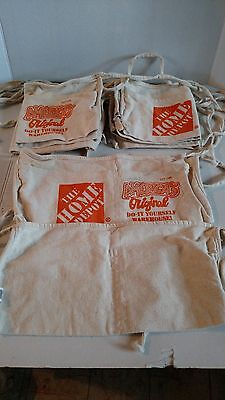 Lot of 8 HOME DEPOT APRONS With 2 Large Pockets