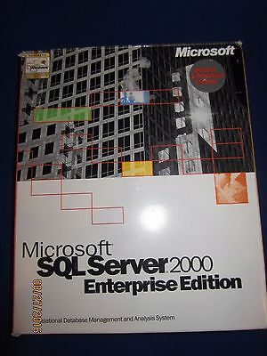 Microsoft SQL Server 2000 Enterprise Edition Retail