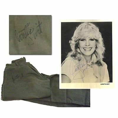 Loretta Swit signed photo & fatigue pants worn in MASH