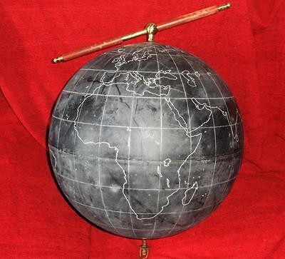 Vintage Philips Slate Surface Terrestrial Globe 19 inch with Suspension Handle
