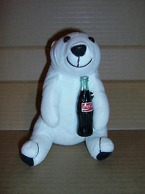 Coca-Cola Plush Collection 6in Polar Bear with Bottle 1993