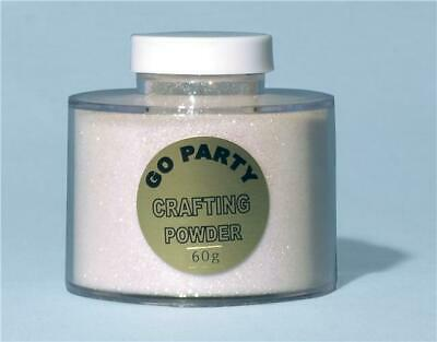 Mixed White Iridescent Crafting Powder/Fine Glitter Shaker 100g