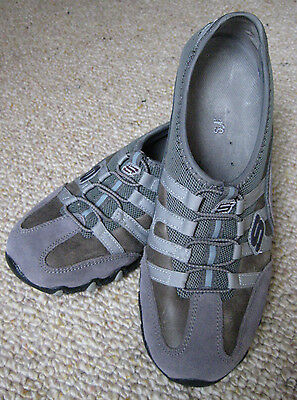 Skechers Ladies, Grey Suede, Walking Shoes, Size 39 (Vgc)