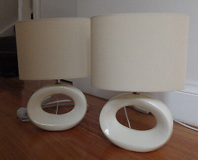 Bedside lamps (pair of)