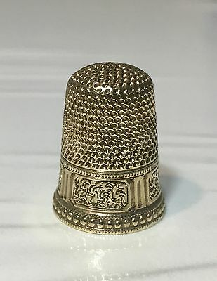 14K Gold Thimble With Provenance From The Ruth Mann Collection 1st Pres Of TCI