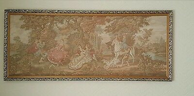 Extra Large Vintage Antique Tapestry Needlepoint Wall Hanging Decoration Picture