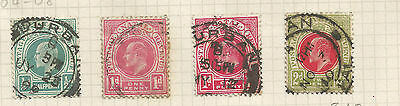 Natal 1904-8 Four Values  Used , Sg  146-149 Postmarked Durban