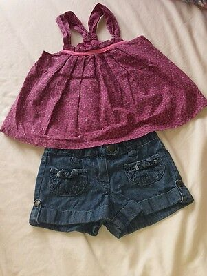 Girls Verbaudet Age 3 years shorts and top