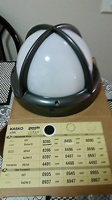 6 x brand new large  Round Caged Bunker Lights in Black,