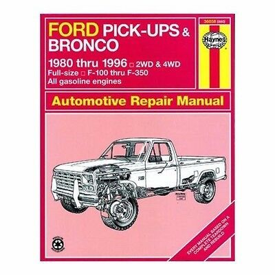 Haynes 36058 Ford Pickups and Bronco 1980-1996 (880) EXCELLENT