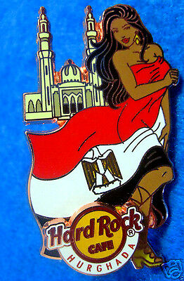 HURGHADA EGYPT LANDMARK FLAG EGYPTIAN GIRL SERIES Hard Rock Cafe PIN LE100