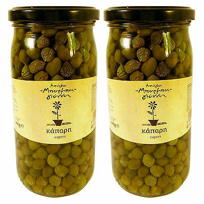Greek Capers Traditional Flavour Net Weight 700gr Glass Jars