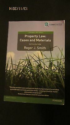 Property Law: Cases and Materials - Roger J Smith 2012, 5th edition Pearson