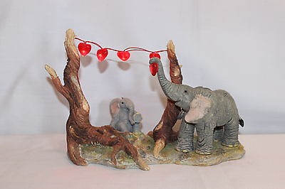 Country Artists Tuskers Elephant - Love On The Line, with lights - #CA02100 NIB
