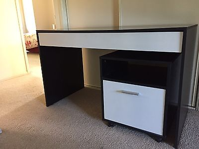 student desk with separate draws